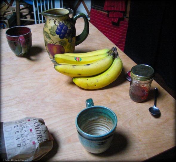 Breakfast in our Yurt, 2007